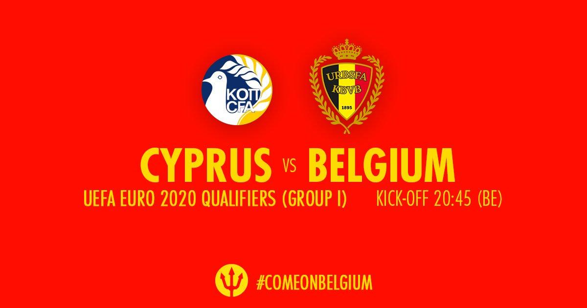 Обзор матча Кипр - Бельгия, 24.03.2019