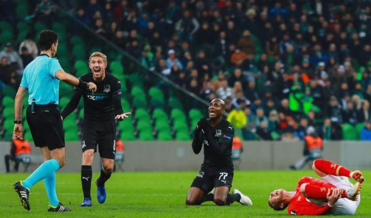 «Краснодар» вырвал победу у «Стандарда» в Лиге Европы