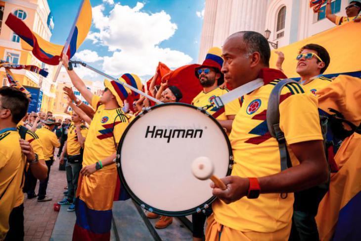 Болельщики сборной Колумбии в России