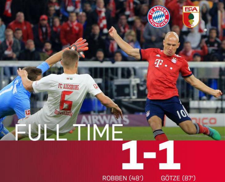Обзор, голы и лучшие моменты матча Бавария - Аугсбург 1:1 5 тур Бундеслиги