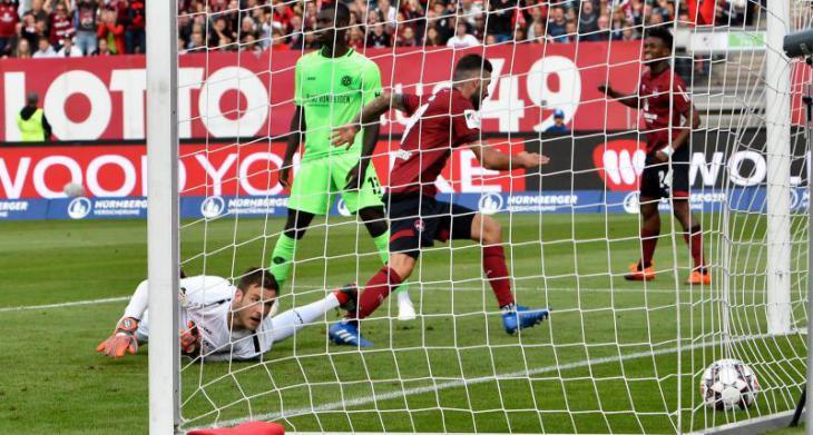 Нюрнберг - Ганновер 2:0 голы, лучшие моменты и видео голов Бундеслига 4 тур