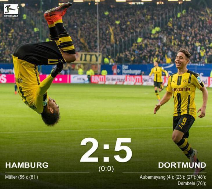 Боруссия дортмунд гамбург статистика