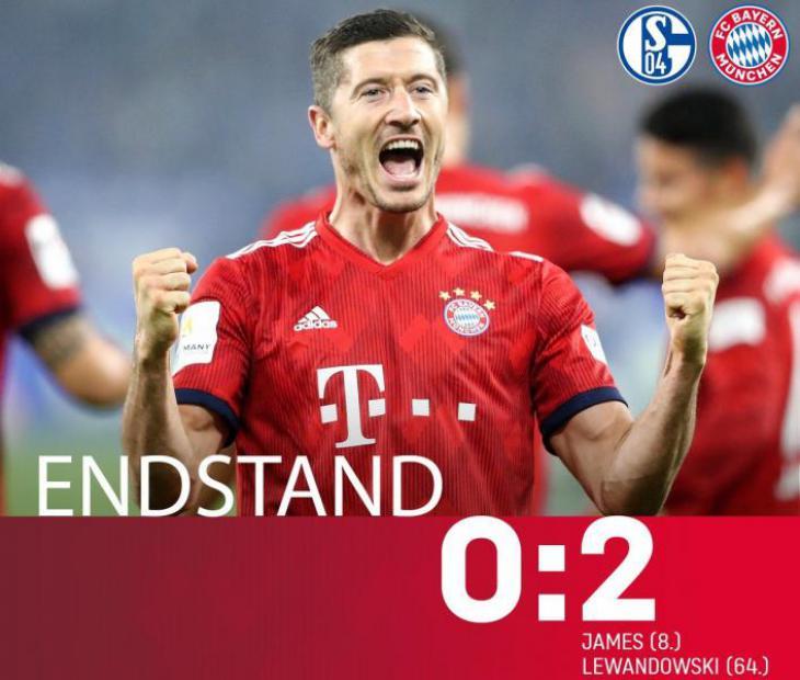 Обзор, статистика и прогноз на матч Шальке - Бавария 0:2 голы и лучшие моменты
