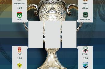 Утверждены даты проведения 1/4 финала Кубка России