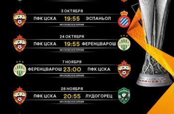 ЦСКА заявка на Лигу Европы