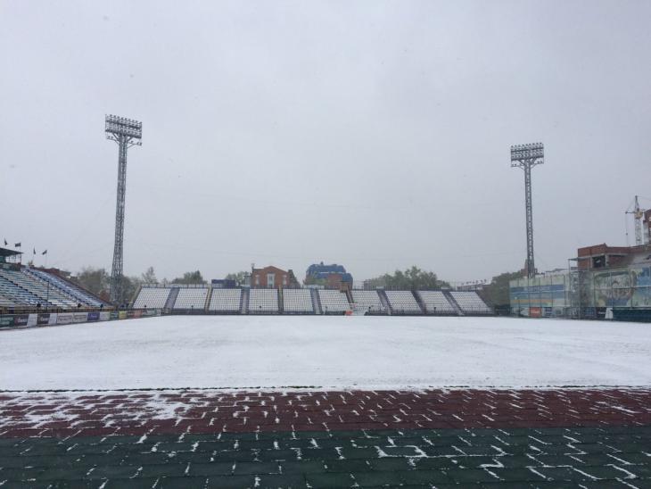 «Томь» - «Крылья Советов». Томск занесло снегом