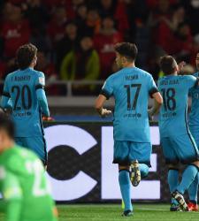 Барселона - Гуанчжоу. Празднование гола.